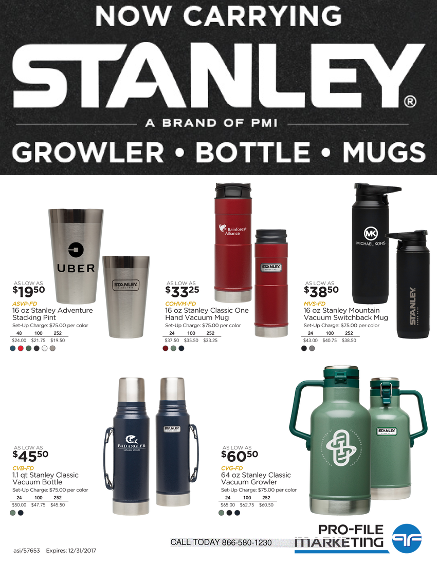 Stanley Thermos Bottles with logo